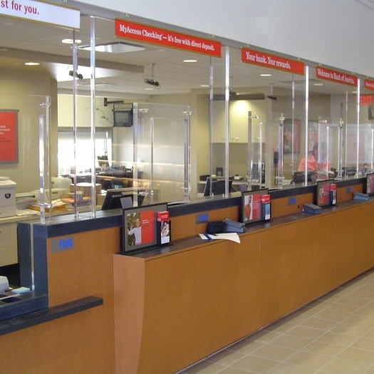 banking center, square top system