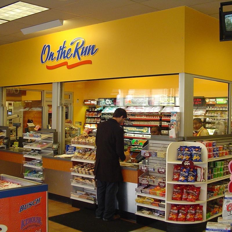 convenience store, slv transaction window & 44/350 door