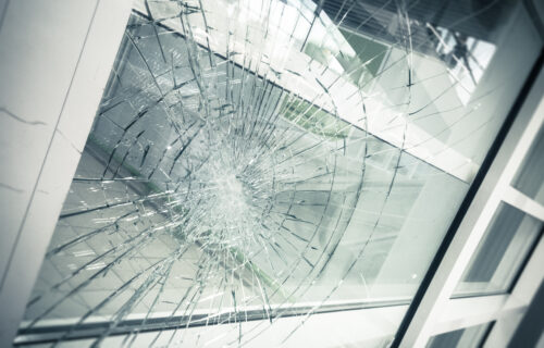 photo of bulletproof glass